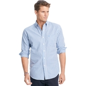 IZOD Big & Tall Peached Tattersall Check Button Down Essential Woven Shirt