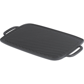 Emeril Pre-Seasoned Cast Iron Double Burner Reversible Grill/Griddle