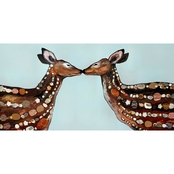 GreenBox Art Deer Love, Eli Halpin Canvas 36 x 18