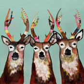 Greenbox Art Designer Deer, Eli Halpin, Canvas, 24 x 24 In.