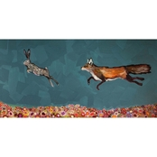 GreenBox Art The Chase, Eli Halpin Canvas 36 x 18
