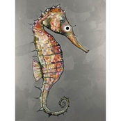 GreenBox Art Seahorse Silver, Eli Halpin Canvas 18 x 24