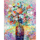 GreenBox Art Floral Bouquet Lavender Canvas Wall Art 24 x 30