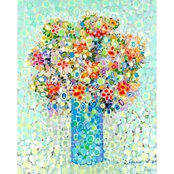 Greenbox Art 24 x 30 Floral Bouquet Sage Canvas Wall Art