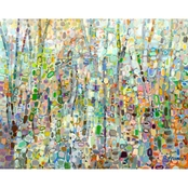 GreenBox Art Abstract Forest Canvas Wall Art