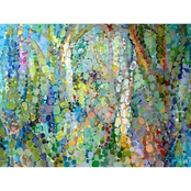 Greenbox Art 40 x 30 Abstract Woodland Canvas Wall Art