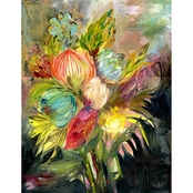 GreenBox Art Bouquet of Flowers Canvas Wall Art 24 x 30