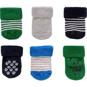 Carter's Infant Boys French Terry Bootie Socks 6 Pk., 0-3 Months