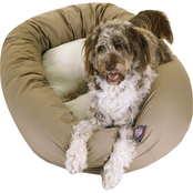 Majestic Pet Sherpa Bagel Dog Bed 52 in.