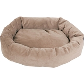Majestic Pet 24 in. Suede Bagel Dog Bed