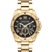 Michael Kors Men's Brecken Goldtone Chronograph Watch