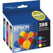 Epson 288 DURABrite Ultra Standard-Capacity Color Multi-Pack (CMY)