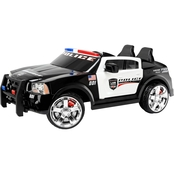 KidTrax Dodge Charger Pursuit Police Car 12V Electric Ride On