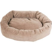 Majestic Pet Suede Bagel Dog Bed