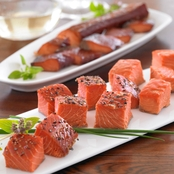 Vital Choice Peppered Smoked Sockeye Salmon 6 oz. Portions