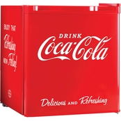 Nostalgia Coca-Cola 1.7 Cu. Ft. Limited Edition Mini Refrigerator with Ice Tray