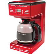 Nostalgia Retro Series 12 Cup Programmable Coffee Maker