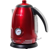 Nostalgia Retro Series 1.7L Stainless Steel Electric Water Kettle with Thermostat