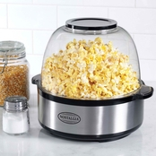 Nostalgia Stainless Steel 6 qt. Stir Pop Popcorn Popper