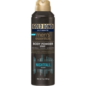 Gold Bond Ultimate Men's Essential Body Powder Spray Nightfall Scent
