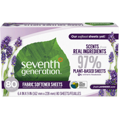 Seventh Generation Blue Eucalyptus & Lavender Fabric Sheets, 80 ct.