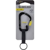 Nite Ize SlideLock Key Ring #3, Black