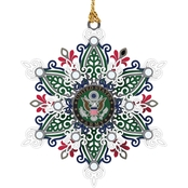ChemArt Army Snowflake Custom Ornament