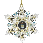 ChemArt Air Force Snowflake Custom Ornament
