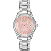 Citizen Women's Silhouette Crystal Eco Drive Watch 28mm FE1140-86X
