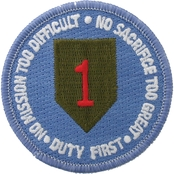 Army Unit Patch 1st Infantry Division Physical Fitness Regular