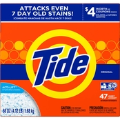 Tide Original HE Powder Laundry Detergent with Acti-Lift Crystals 66 Oz. 47 Loads