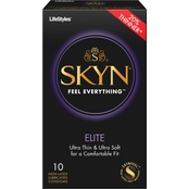 LifeStyles Skyn Elite Lubricated Non Latex Condoms, 10 Pk.