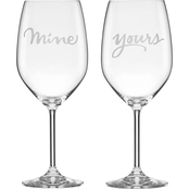 Kate Spade by Lenox Mine and Yours Wine Glass Set