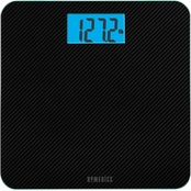 TAYLOR    HOMEDICS CARBON FIBER GLASS BATHROOM SCALE