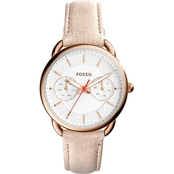Fossil Women's Tailor Multifunction Light Brown Leather Watch34MM  ES4007