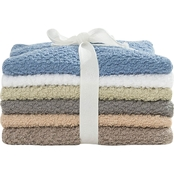 Revere Mills 6pc Ribbon wrapped textured washcloth set
