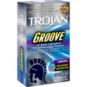 Trojan Premium Latex Condoms Groove 10 Ct.
