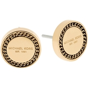 Michael Kors Logo Goldtone Stud Earrings