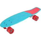 Kryptonics Originals 22.5 In. Complete Skateboard, Aqua Blue Graphic
