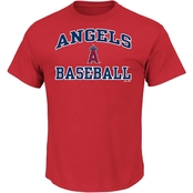 Majestic MLB Los Angeles Angels of Anaheim Men's Heart And Soul Tee