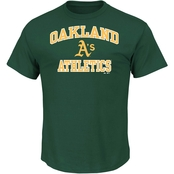 Majestic MLB Oakland Athletics Men's Heart and Soul Tee