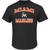 Majestic MLB Miami Marlins Men's Heart and Soul Tee