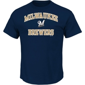 Majestic MLB Milwaukee Brewers Men's Heart and Soul Tee
