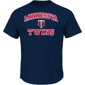 Majestic International MLB Minnesota Twins Heart and Soul Tee