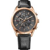Tommy Hilfiger Men's Sport Lux Watch with Black Sunray Dial