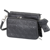 Gun Tote'n Mamas Embroidered Lambskin Clutch Crossbody CCW Handbag