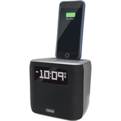 iHome Dual Alarm FM Clock Radio with Lightning Connector and USB Charging