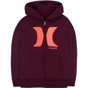 Hurley Boys Icon Zip Front Hoodie