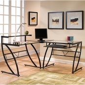 Z-Line Belaire Glass L Desk