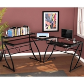 Z-Line Feliz Glass L Desk